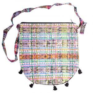 Dámská bavlněná taška přes rameno vyšívaná barevná 35 x 35 cm B | SoNo spol. s r.o.
