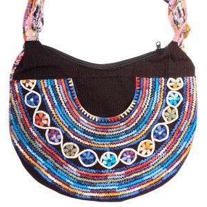 Dámská bavlněná taška vyšívaná barevná 35 x 25 cm E | SoNo spol. s r.o.