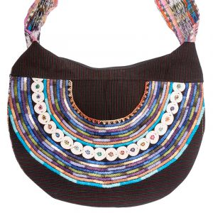 Dámská bavlněná taška vyšívaná barevná 35 x 25 cm B   SoNo spol. s r.o.