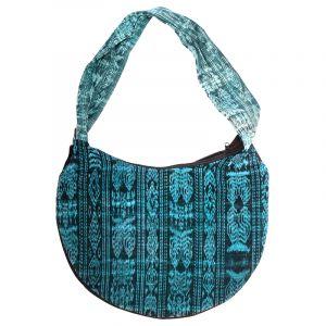 Dámská bavlněná taška vyšívaná barevná 35 x 25 cm C