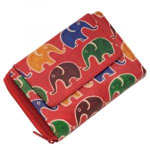 Kožená peněženka Easy Sloni červená