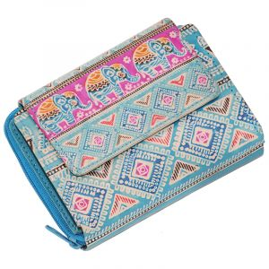 Kožená peněženka Easy Sloni modrá