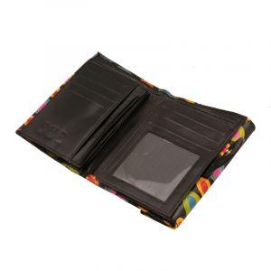 Dámská kožená peněženka Envelope Barevný déšť černá