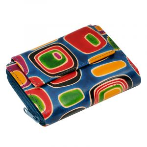 Kožená peněženka Easy Colours modrá