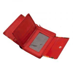Dámská kožená peněženka Easy Sloni červená