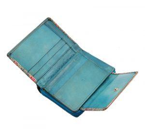Dámská kožená peněženka Easy Sloni modrá