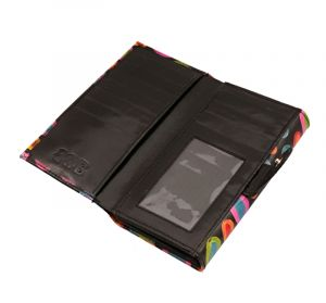 Dámská kožená peněženka Woman Barevný déšť černá