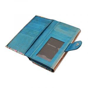 Dámská kožená peněženka Woman Sloni tyrkysová