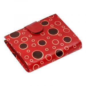Kožená peněženka Miss Rings červená