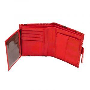 Dámská kožená peněženka Miss Rings červená