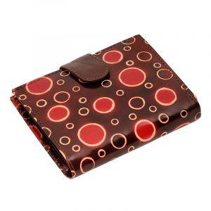 Kožená peněženka Miss Rings hnědá