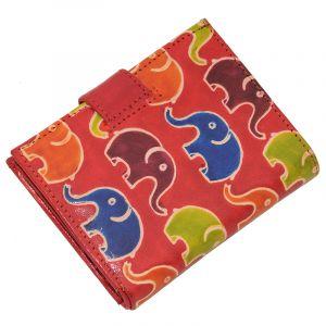 Kožená peněženka Miss Slon červená
