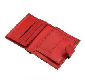 Dámská kožená peněženka Miss Slon červená