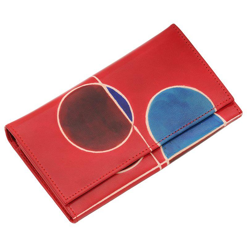 Dámská kožená peněženka Slim London červená