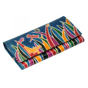 Kožená peněženka Slim Savana modrá