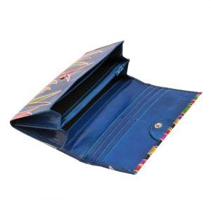 Dámská kožená peněženka Slim Savana modrá