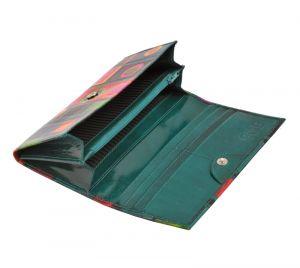 Dámská kožená peněženka Slim Vídeň zelená