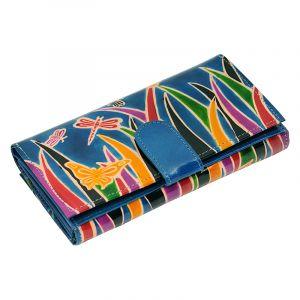 Dámská kožená peněženka Woman Savana modrá