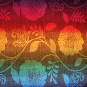 Dámská šála Thai pashmina 170 x 65 cm duhová květ