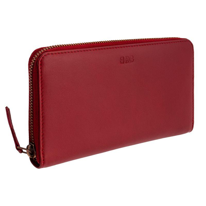 Luxusní dámská kožená peněženka Symetry bordeaux