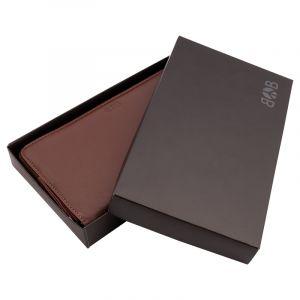 Luxusní dámská kožená peněženka Symetry hnědá