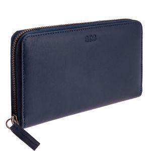 Luxusní dámská kožená peněženka Symetry navy modrá