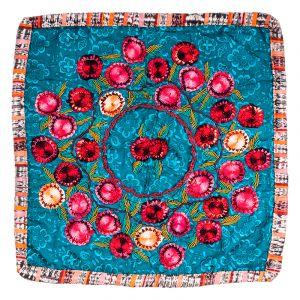 Povlak na polštář vyšívaný tkaný 50 x 50 cm A