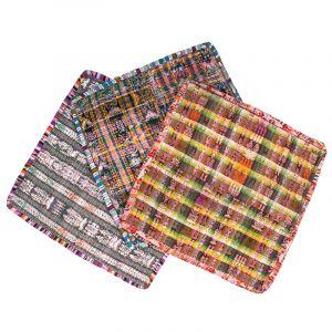 Povlak na polštář vyšívaný tkaný 50 x 50 cm B+