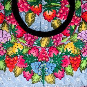 Povlak na polštář vyšívaný tkaný 50 x 50 cm C