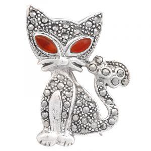 Stříbrná brož Kočka Ag 7,7 g