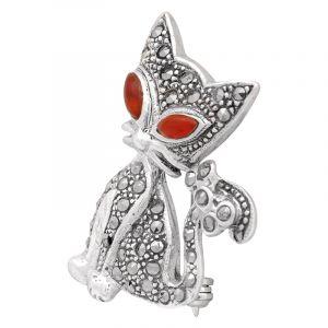 Stříbrná brož Kočka Ag 7,7 g | SoNo spol. s r.o.