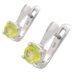 Stříbrné náušnice s olivínem Ag 3,4 g | SoNo spol. s r.o.