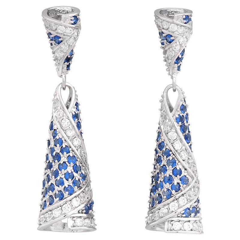 Stříbrné náušnice crystal Ag 14,9 g