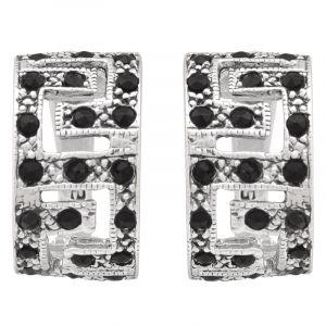 Stříbrné náušnice s černými zirkony Ag 6,4 g | SoNo spol. s r.o.