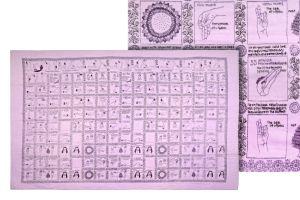 Velký bavlněný šátek Yoga 180 x 110 cm fialový | SoNo spol. s r.o.