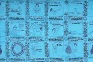 Velký bavlněný šátek Yoga 180 x 110 cm tyrkysový | SoNo spol. s r.o.