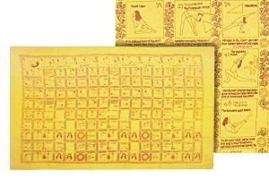 Šátek Yoga 180 x 110 cm žlutý
