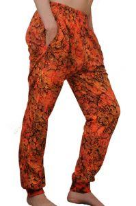 Sportovní kalhoty batikované BOB Batik JT32 červené