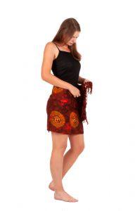 Plážový šátek sarong, pareo Óm červený