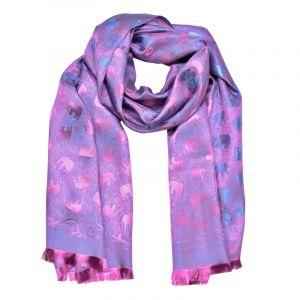 Šála Silk 170 x 65 cm fialová