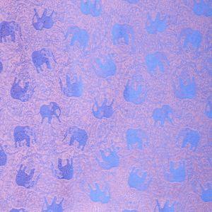 Šála Silk 170 x 65 cm magenta se slony