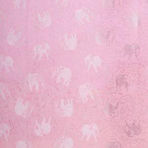 Šála Silk 170 x 65 cm růžová se slony | SoNo spol. s r.o.