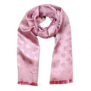 Šála Silk 170 x 65 cm růžová