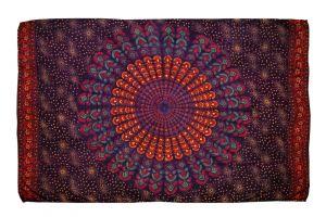 Šátek Peacock 170 x 110 cm fialový J