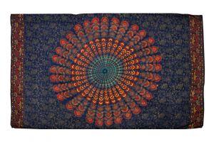 Šátek Peacock 170 x 110 cm modrý D