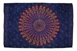 Šátek Peacock 170 x 110 cm modrý E