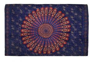 Šátek Peacock 170 x 110 cm modrý F