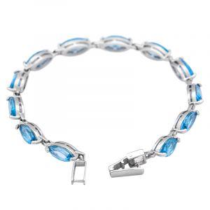 Stříbrný náramek se Swiss Blue topazy Ag 10,6 g   SoNo spol. s r.o.