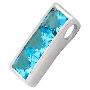 Stříbrný přívěsek s modrými zirkony Ag 4,3 g | SoNo spol. s r.o.