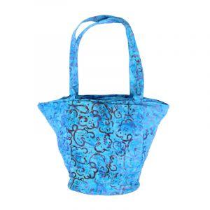 Taška batikovaná Disco azurově modrá